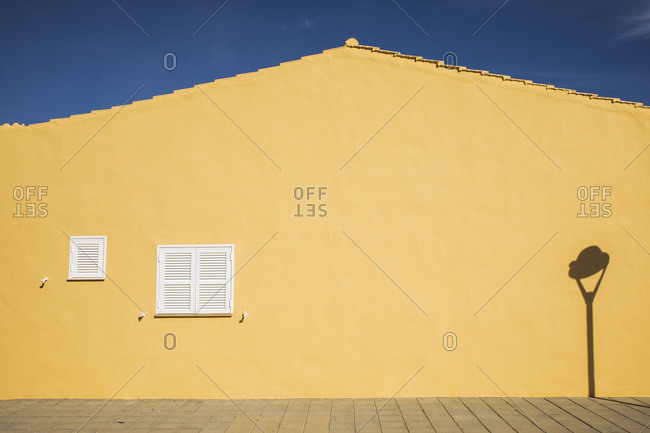 Clean wall of yellow building