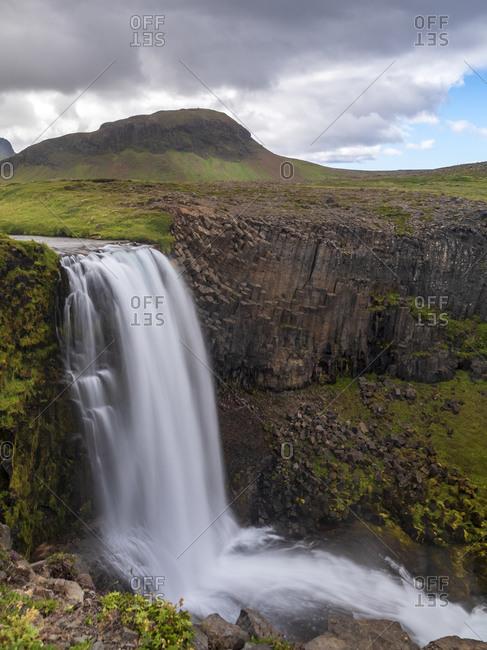 Long exposure of Svodufoss waterfall- Iceland