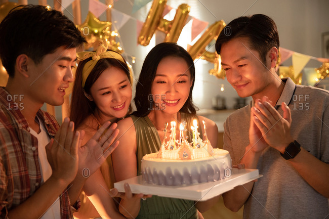 Birthday celebration for a young woman
