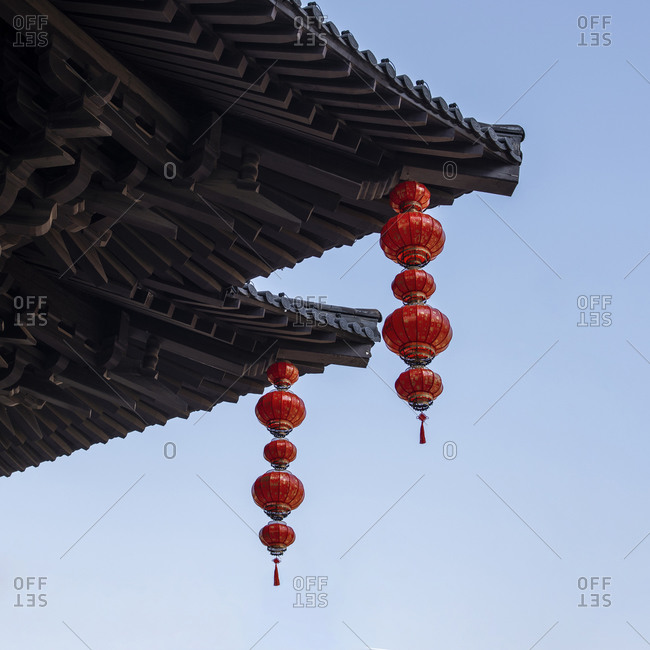 China - October 4, 2012: Close up of ancient buildings in Anhui province