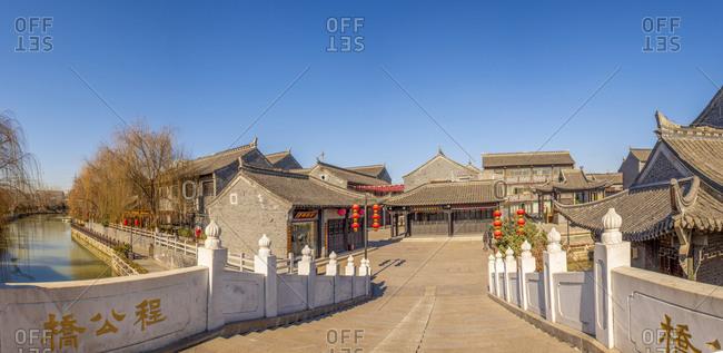 Huaian, China - August 22, 2006: Buildings in Jiangsu province