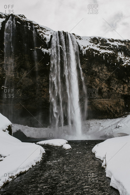 Seljalandsfoss in winter, Iceland photo from the Offset Collection