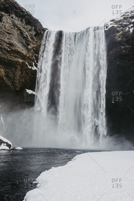 Skogafoss in winter, Iceland photo from the Offset Collection