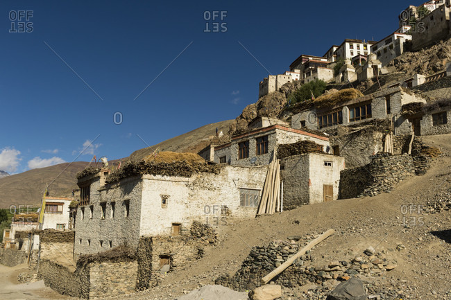 The Karsha Gompa monastery photo from the Offset Collection