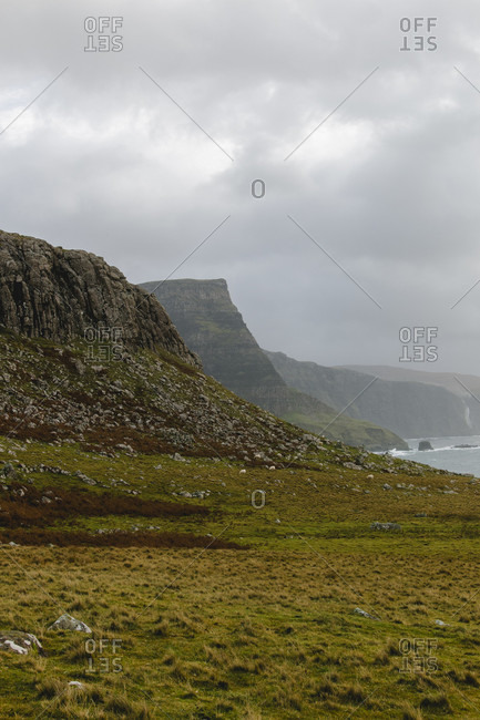Foggy cliffs in Scotland photo from the Offset Collection