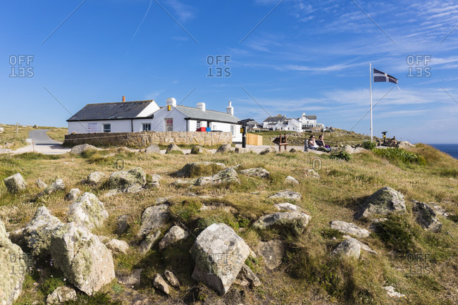 June 26, 2018: First and last house in England, Lands End, Cornwall, England, Great Britain, British Isles, United Kingdom, UK