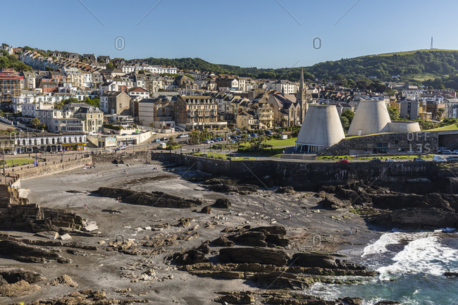 June 21, 2018: Ilfracombe and the sculptural The Landmark Theater, England, Great Britain, British Isles, United Kingdom, UK