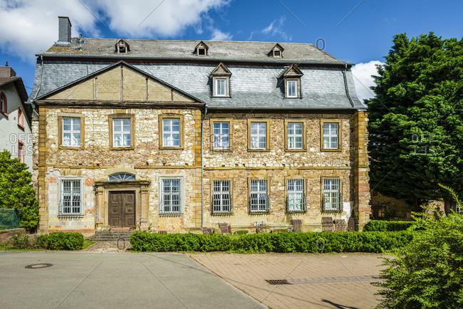 July 5, 2020: Monastery complex in Pfaffen-Schwabenheim, Rheinhessen, cultural property according to the Hague Convention,