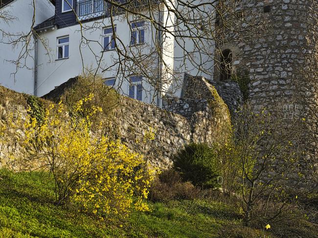 Europe, Germany, Hesse, Lahn-Dill-Kreis, Lahn-Dill-Bergland, Wetzlar, Sauturm at the old city wall near Avignon-Anlage