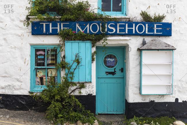 June 26, 2018: Small fishing village Moushole, Cornwall, England, Great Britain, British Isles, United Kingdom, UK