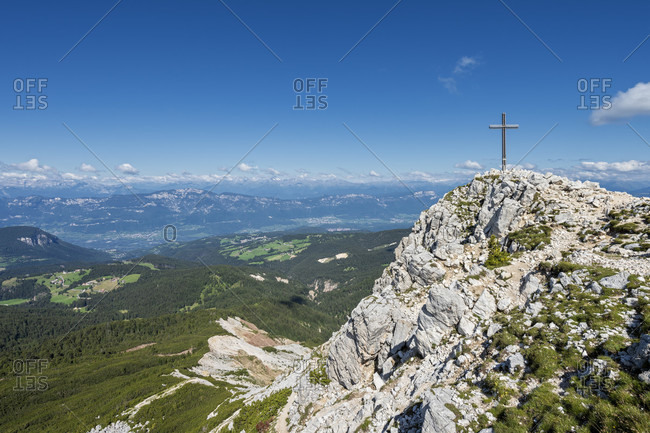 Aldein, Province of Bolzano, South Tyrol, Italy. Geoparc Bletterbach. The summit of the Aldeiner Weisshorn
