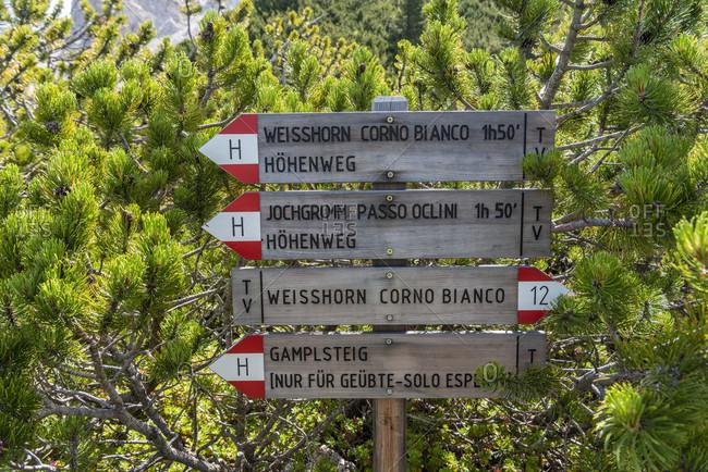 July 18, 2020: July 18, 2020: Aldein, Province of Bolzano, South Tyrol, Italy. Geoparc Bletterbach.
