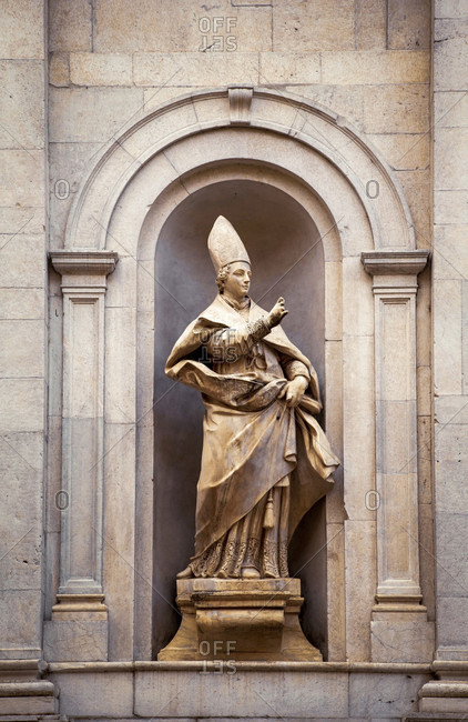 June 15, 2018: Santi Paolino e Donato, saint figure, Paulinus of Antioch, Lucca, Tuscany, Italy