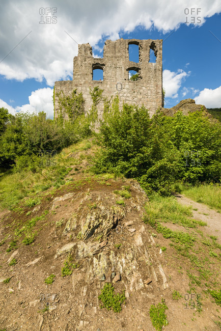 Falkenstein Castle in the town of the same name in the Palatinate in the Donnersberg district,