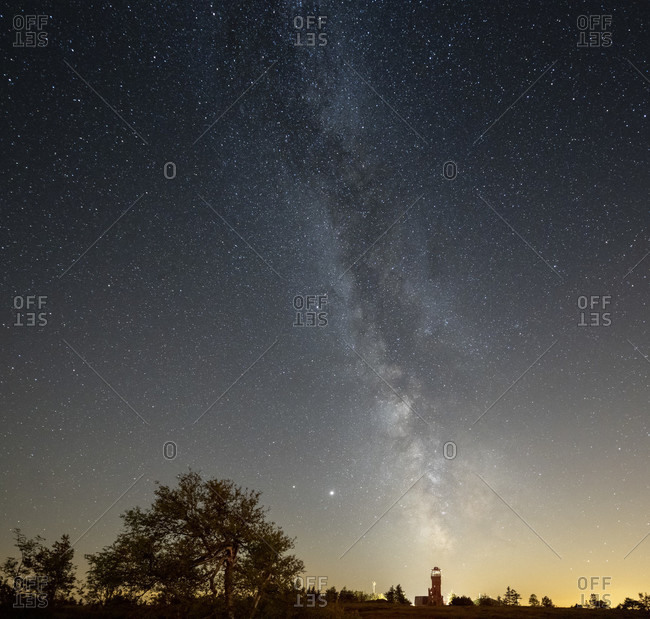 Germany, Baden-Wurttemberg, Black Forest, Hornisgrinde, the Milky Way over the Hornisgrinde.
