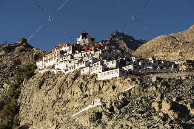 The Nubra Valley with the village of Diskit with the monastery Galdan Tashis Chosling Gompa