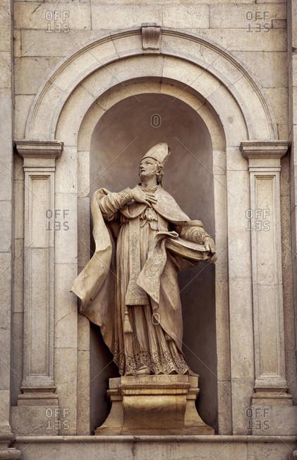 June 15, 2018: Santi Paolino e Donato, saint figure, Saint Donatus, Lucca, Tuscany, Italy