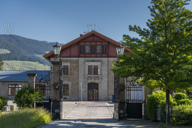 June 13, 2020: Toblach, South Tyrol, Bolzano province, Italy. Toblach train station