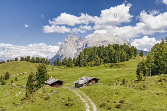 Mountain cabin, Seiser Alm, South Tyrol, Italy - Alpe di Siusi, Alto Adige, Italia