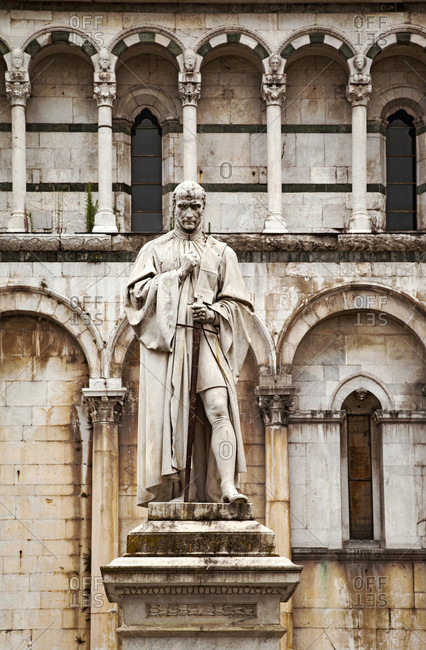 June 15, 2018: San Michele in Foro, Francesco Burlamacchi, Lucca, Tuscany, Italy