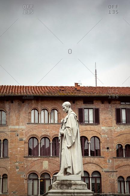 June 15, 2018: Francesco Burlamacchi, Piazza San Michele, Lucca, Tuscany, Italy