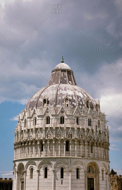 June 17, 2018: Battistero di San Giovanni, Duomo, Pisa, Tuscany, Italy