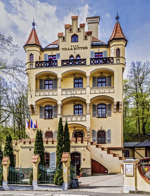 April 24, 2018: Czech Republic, Bohemia, Karlovy Vary (Karlovy Vary)