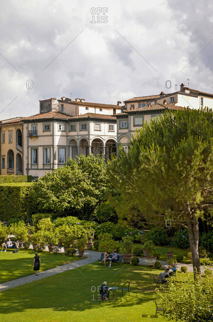 June 15, 2018: Palazzo Pfanner, house, garden, Lucca, Tuscany, Italy