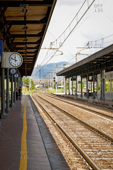 June 16, 2018: Railway station, strike, Leer, Prato, Tuscany, Italy