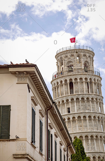 June 17, 2018: Leaning Tower of Pisa, Tower, Pisa, Tuscany, Italy