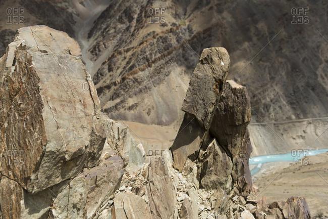 The way to Phuktal Gompa monastery with the Lingti, Tsarap river