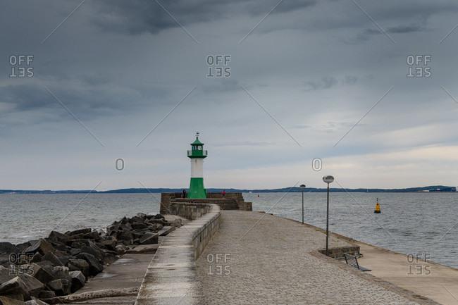 June 18, 2020: Lighthouse on the east breakwater near Sassnitz.
