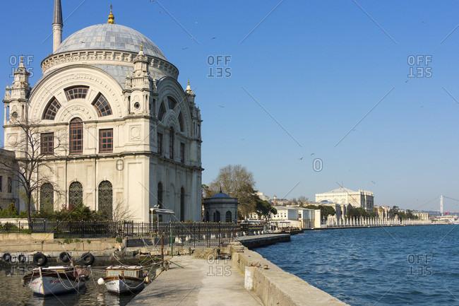 April 11, 2015: Turkey, Istanbul, Bosphorus, Dolmabahce Palace