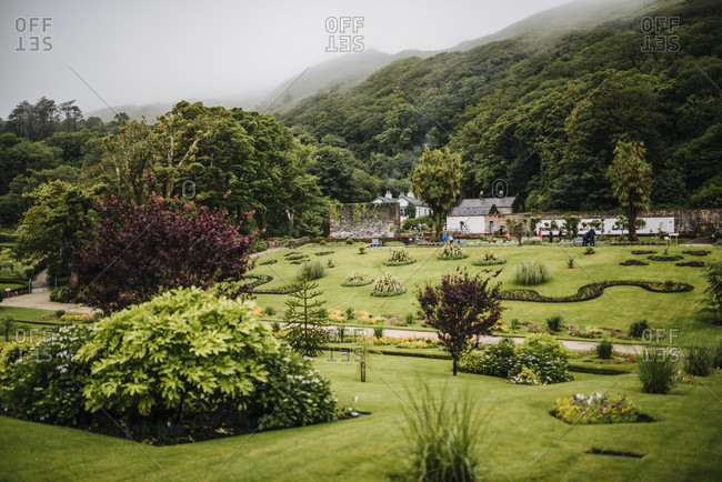 "July 15, 2018: The Victorian ""Walled Garden"" of Kylemore Abbey"