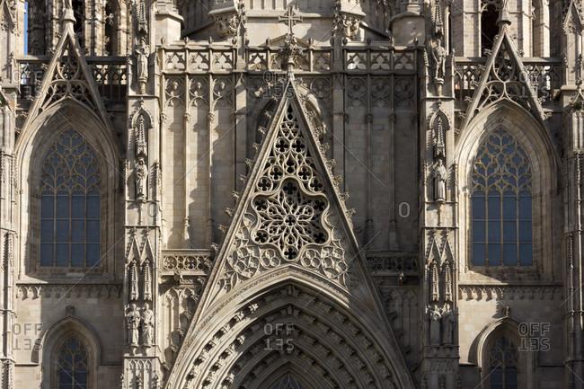 Barcelona, La Catedral, Cathedral, Pla de la Seu, main portal