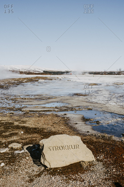 "March 12, 2020: Geyser ""Strokkur"" in the Haukadalur valley"