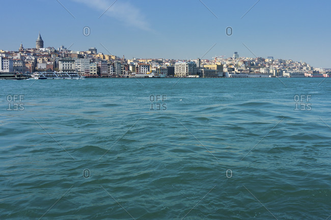 Turkey, Istanbul, Bosphorus, the color of the Bosphorus