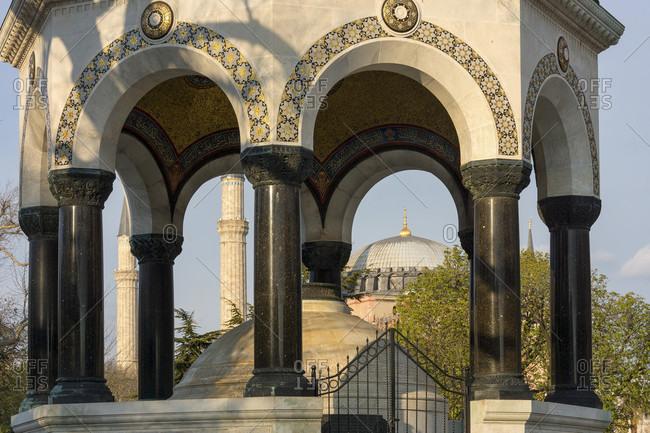 Istanbul, Sultan Ahmet Square, Kaiser Wilhelm Fountain