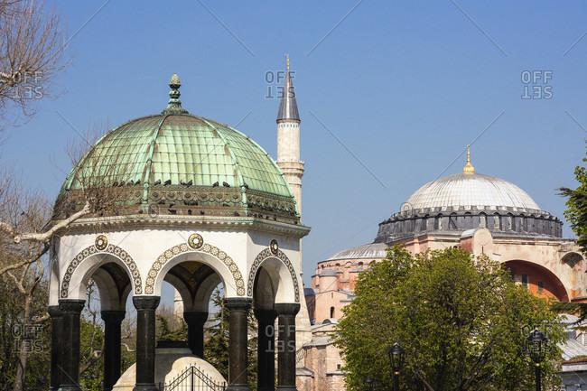 Turkey, Istanbul, Sultanahmet, Kaiser Wilhelm Fountain