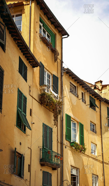 House, Piazza dell 'Anfiteatro, Lucca, Tuscany, Italy