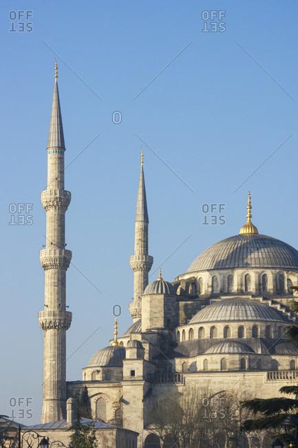 Turkey, Istanbul, Sultanahmet, Blue Mosque, minarets