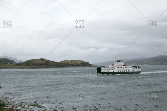 October 13, 2017: Ferry passing by Isle of Skye
