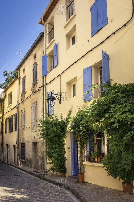 May 28, 2020: Village alley in spring in Ceret