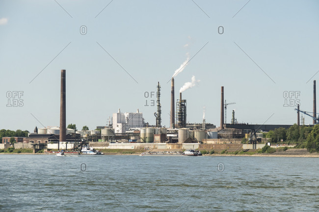 Duisburg, Rhine, Essenberg chemical plant
