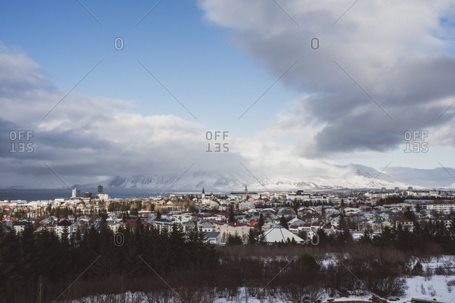 View over Reykjavik from Perlan, Iceland