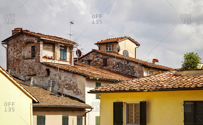House, old town, Lucca, Tuscany, Italy