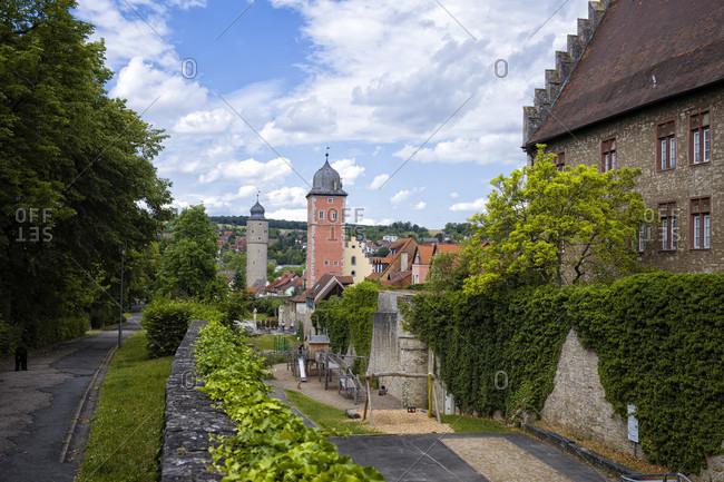 June 8, 2020: Ochsenfurt, city towers