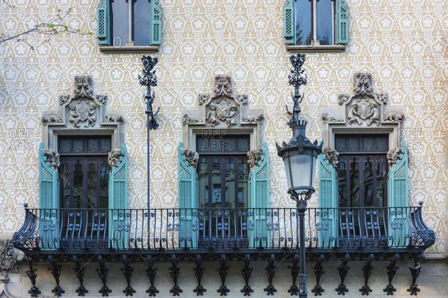 Barcelona, Passeig de Gracia, facade