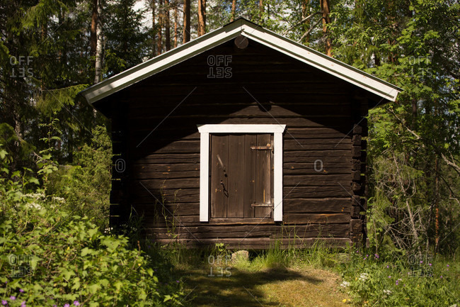 Rural old barn, countryside, Finland