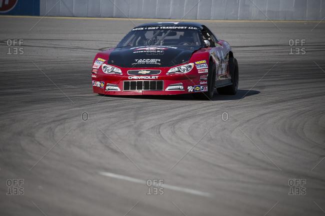 Cape Carteret, North Carolina - June 10, 2017: A Late Model race car at a local paved quarter mile track
